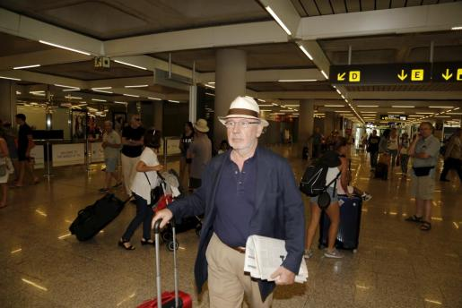 Rodrigo Rato, en el aeropuerto de Palma, el pasado mes de julio.
