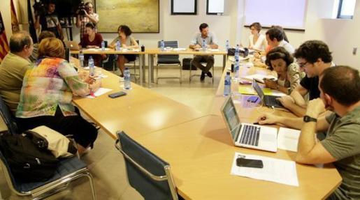 Imagen de la reunión de la comisión de seguimiento de los acuerdos de gobernabilidad entre PSIB, MÉS y Podemos.
