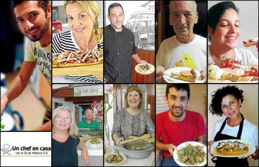 Fotografías de los ganadores de la tercera edición del concurso 'Un chef en casa'.