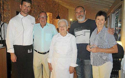 Joan Porcel, Mateu Roca, Margalida Alemany, Miquel Jaume y Martina Conbes.