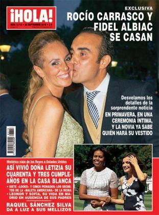 Portada de la revista 'Hola' donde anuncian el enlace de Rocío Carrasco.