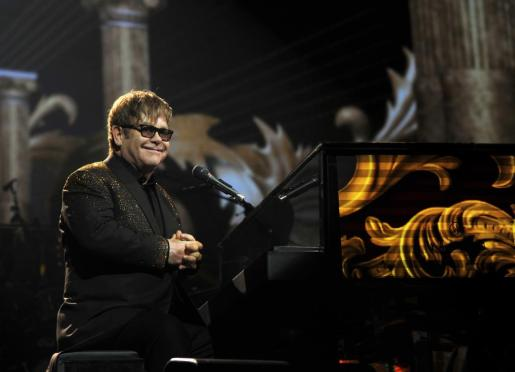 El cantante británico Elton John durante una actuación en Las Vegas.