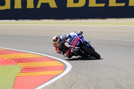 Jorge Lorenzo, durante la carrera del Gran Premio Aragón de MotoGP.