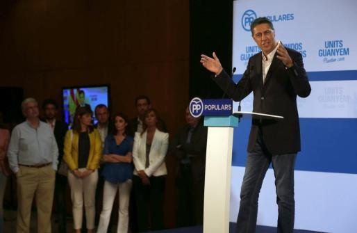 El candidato del PPC a la Presidencia de la Generalitat, Xavier García Albiol, valora los resultados de la elecciones catalanas de hoy, que ha ganado la lista de Junts pel Sí.