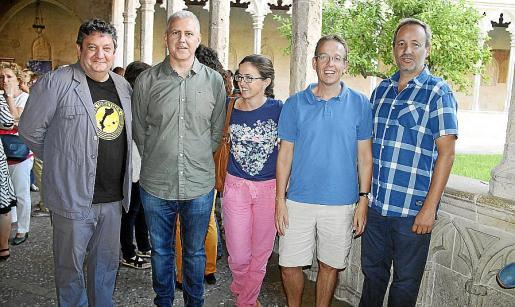 Tomeu Martí, Pep Melià, Sara Ladària, Xavier Mora y Pere Muñoz.