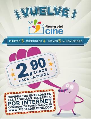 Cartel de la novena edición de la Fiesta del Cine.