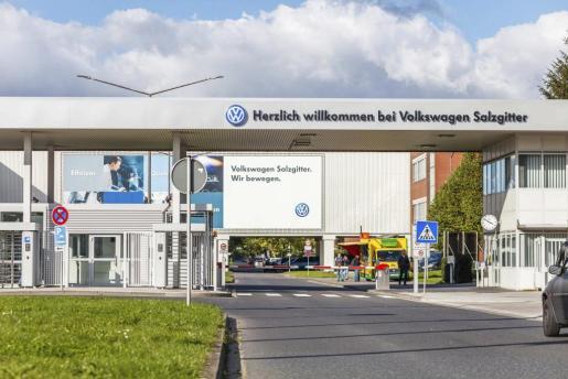 Vista de una de las fábricas de la marca Volkswagen en Salzgitte, Alemania.