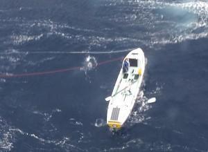 Imagen del bote a la deriva.