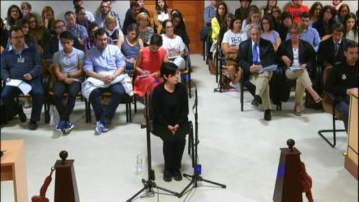 Rosario Porto, durante su declaración ante el juez..