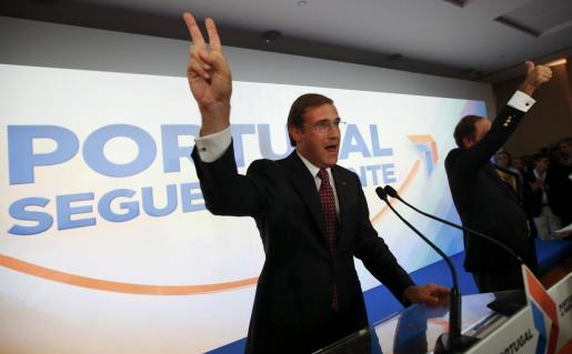 Pedro Passos Coelho obtuvo el 39 % de los votos.