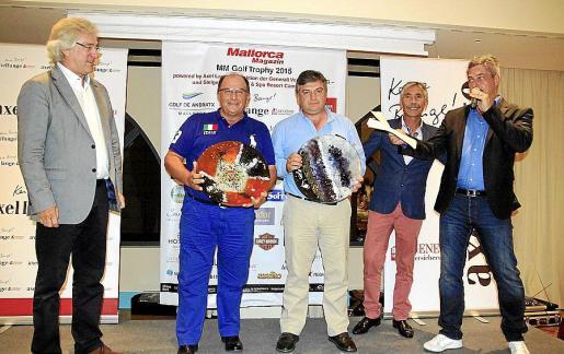 Bernd Jogalla, Juan Díaz Hernández, Alejandro Ocio Lamas, Jesús Castro y Dirk Dünkler, en la entrega de premios del torneo.