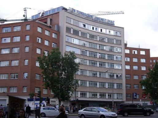 Imagen de la fachada del hospital de la Fundación Jiménez Díaz.