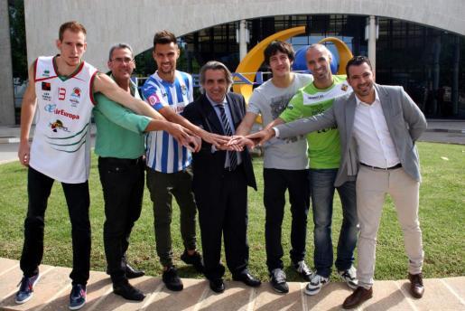 El Atlètic Balears, el Palma Futsal y el Palma Air Europa renuevan el convenio para atraer a más espectadores