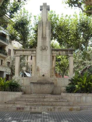 Imagen del monumento ubicado en la plaza de España del Municipio.