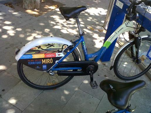 Una de las bicicletas del servicio de Bicipalma.