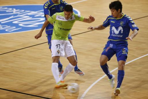 Momento del encuentro entre el Palma Futsal y el Inter Movistar.