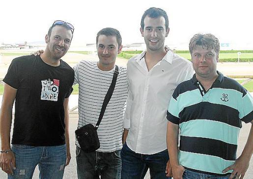 Mateu Sureda, Miquel Vives, Joan Rigo y Bernat Bosch.