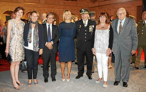 Bel Oliver, Maria Salom, Vicenç Thomás, Teresa Palmer, Antonio Jarabo, Francina Armengol y Tummy Bestard.