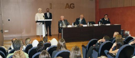 La nueva directora del CESAG, Julia Violero, durante el acto de presentación del nuevo curso.