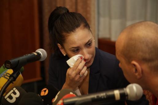 La taekwondista mallorquina Brigitte Yagüe no ha podido evitar las lágrimas durante la rueda de prensa en la que ha anunciado su retirada de la competición de élite.