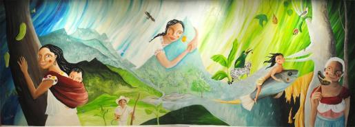 Obra Mural 15 años Carta de la Tierra en México de Nívola Uyá