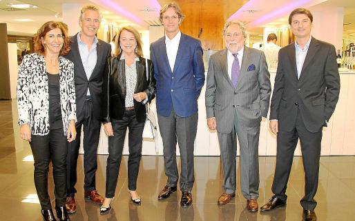 Ester Socías, Juan Carlos Rosselló, Micaela Gual de Torrella, Jean Marie Bouthelier, Juan Carlos Rosselló y Jorge Arteaga.