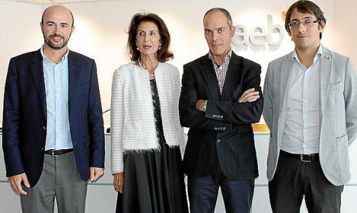 Rafael Guinea, Carmen Planas, Fran Ladero y Iago Negueruela.