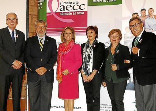 Pedro Comas, Hernán Gioseffi, Teresa Martorell, Nieves Ascunce, Magdalena Esteva y Javier Cortés.