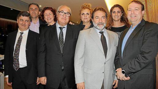 Fernando Dameto, Juan Vanrell, Mª Victoria Bonet, José Mª Mir, Gloria Mulet, Fernando Valentín, Ana Roca y Juan José Calero.