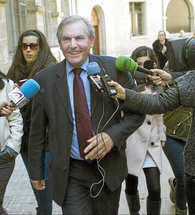 Antonio Pinal, de Bruesa, tras su comparecencia en marzo ante Castro.