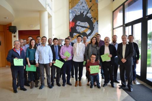 El Auditori de sa Màniga acogió una reunión entre representantes municipales y hoteleros.