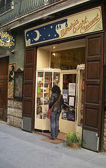 La librería está especializada en lengua catalana.