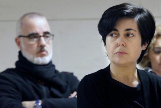Rosario Porto y Alfonso Basterra, durante el juicio.