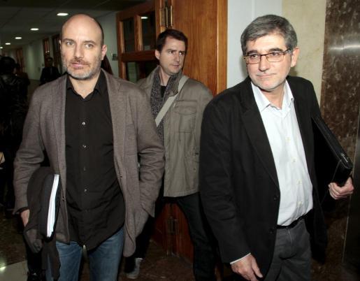 Antoni Verger y Gabriel Vicens, tras comparecer ante el juez en diciembre de 2014.