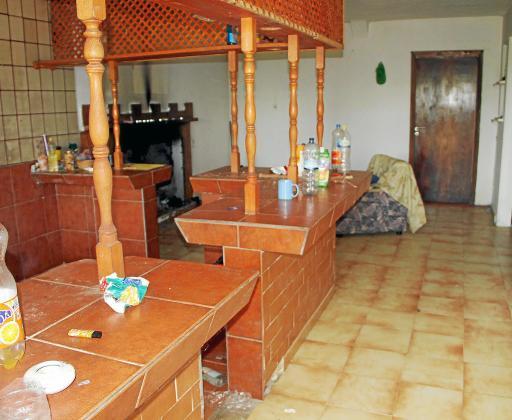 El interior de la casa de Alejandro en Muro.