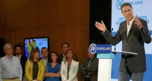 El jefe de filas del Partido Popular en el Parlament de Catalunya, Xavier García Albiol.
