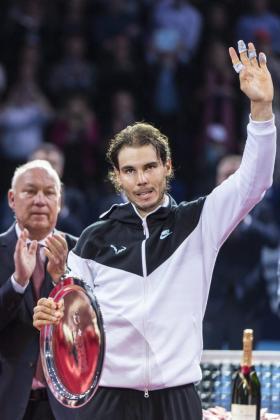 El español Rafael Nadal, tras la final de Basilea.