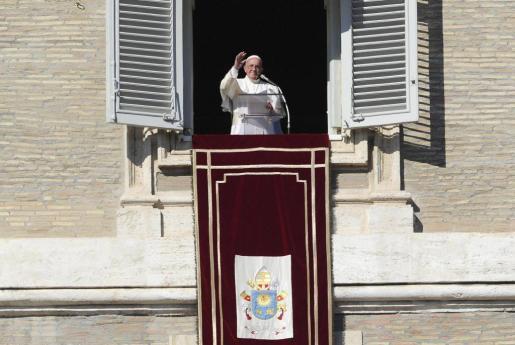 El Papa Francisco, durante la misa del Angelus.