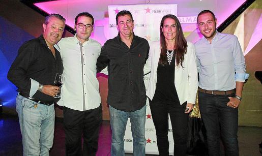 Carlos Moreno, José Jiménez, Salvador Miró, María Martín y José León.