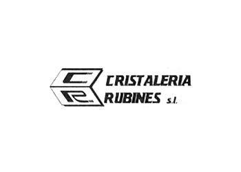 Logo de la cristalería Rubines.
