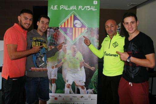 Taffy, Sergio, Juanito y Nico Sarmiento muestran su apuesta por un trionfo del Palma Futsal ante el FC Barcelona en las semifinales de la Copa del Rey.