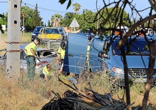 Imagen de un accidente en la carretera de Can Picafort.