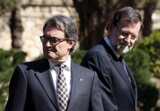 Artur Mas junto a Mariano Rajoy.
