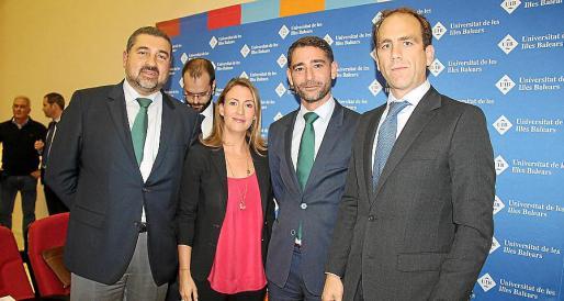 Rafael Ferragut, Pilar Martínez-Cosentino, Javier Ramírez y Javier Galarraga.