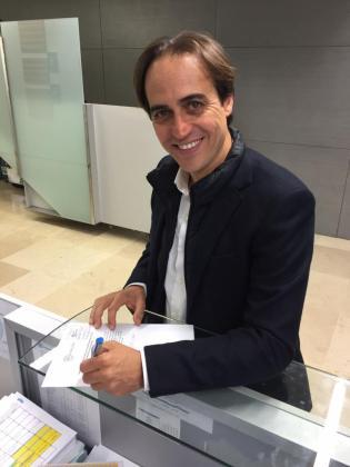 Alvaro Gijón durante la presentación de su candidatura para ser el número 1 de Balears en la lista del Congreso. Este martes se ha sabido que Génova ha vetado su presencia.