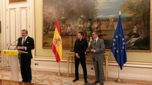 Imagen del acto de entrega de la Medalla de Oro al Mérito Deportivo a Jorge Lorenzo.