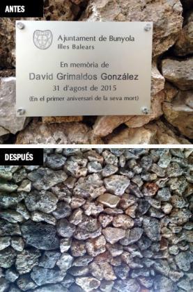 La placa se colocó el pasado 31 de agosto, fecha del primera aniversario de la muerte del joven.