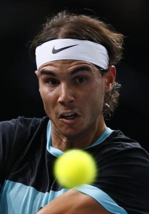 Una imagen de archivo de Rafael Nadal durante un reciente partido.