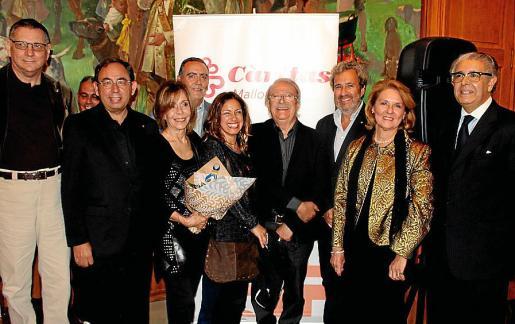 Julio Marco, Gabriel Riera, Gabriela Giardino, Joan Sastre, Paola Maddonni, de Cáritas Mallorca; César Isella, Joan Salas, Lourdes Vaesken y Daniel Samaniego.