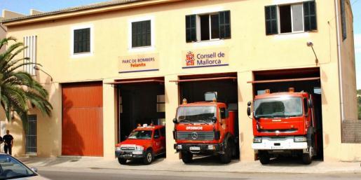 Imagen de archivo del parque de los bomberos del Consell de Mallorca en Felanitx.